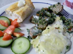 Sicilian Sausage w/ Vegetables & Ravioli