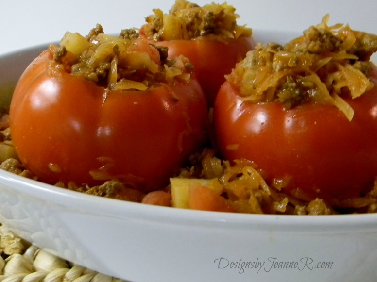 German Inspired Stuffed Tomatoes