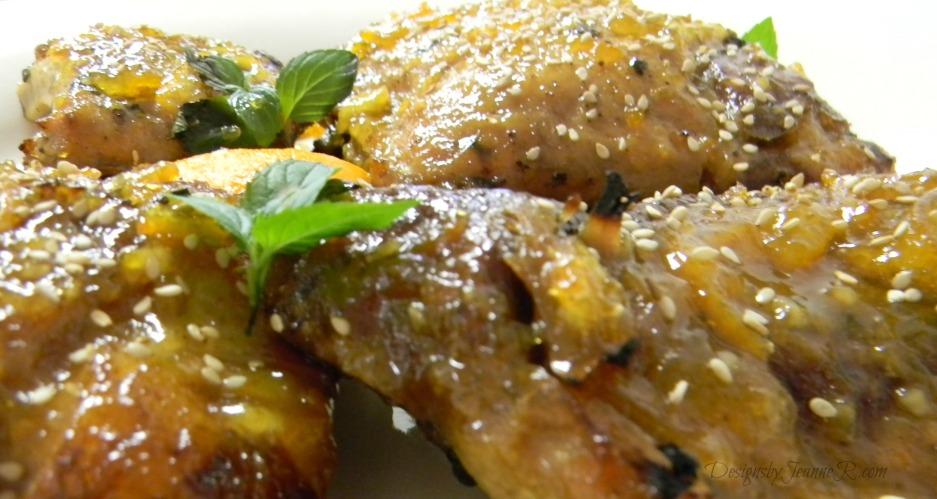 Pork Back Ribs with Orange Marmalade Sauce