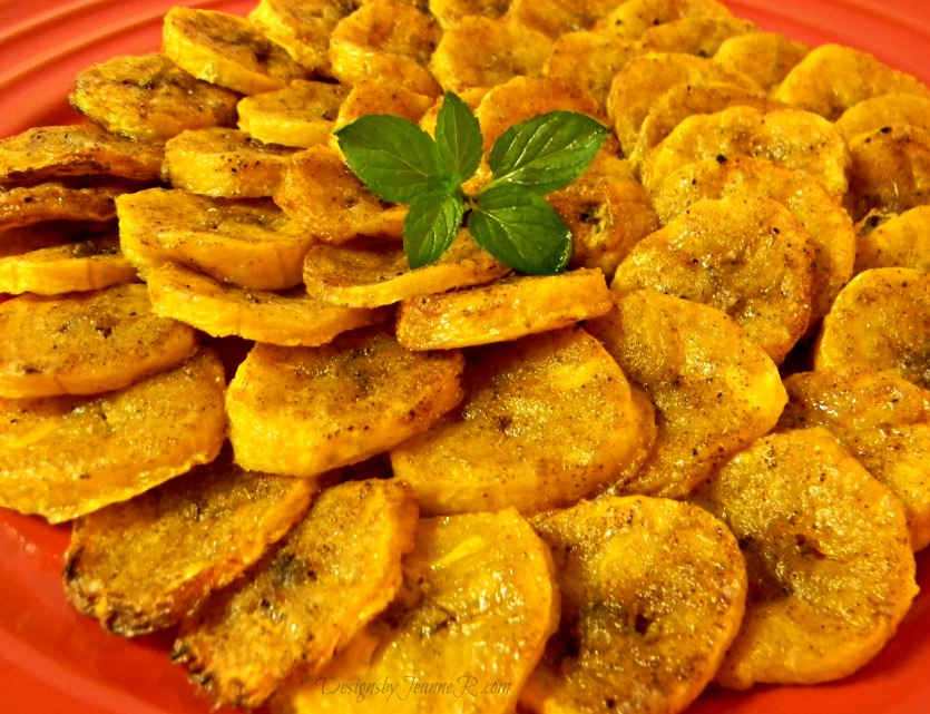 Oven Baked Seasoned Plantains