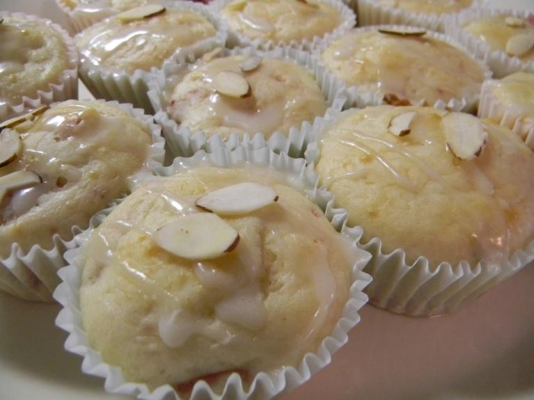 Fresh Strawberry Muffins with Lemon Glaze