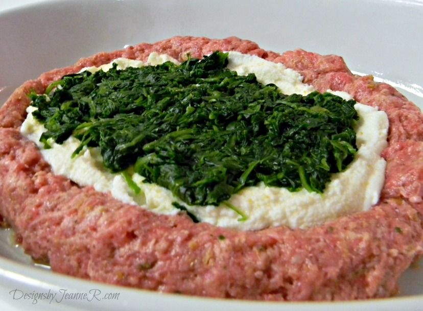 Spinach & Ricotta Stuffed Meatloaf