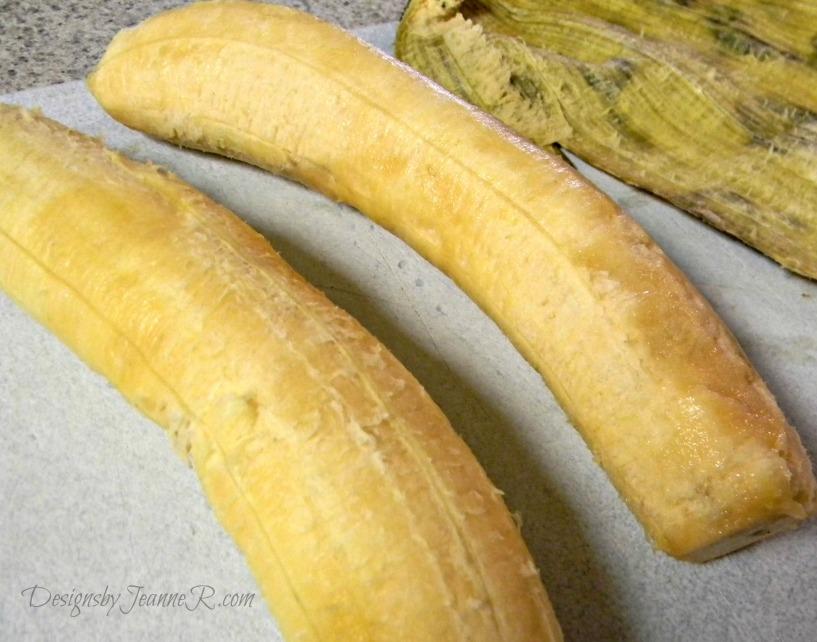 peeled plantains