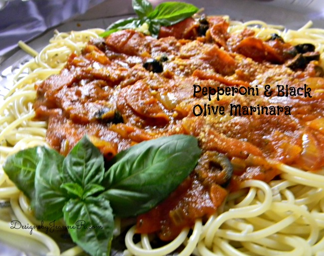 Pepperoni & Black Olive Marinara