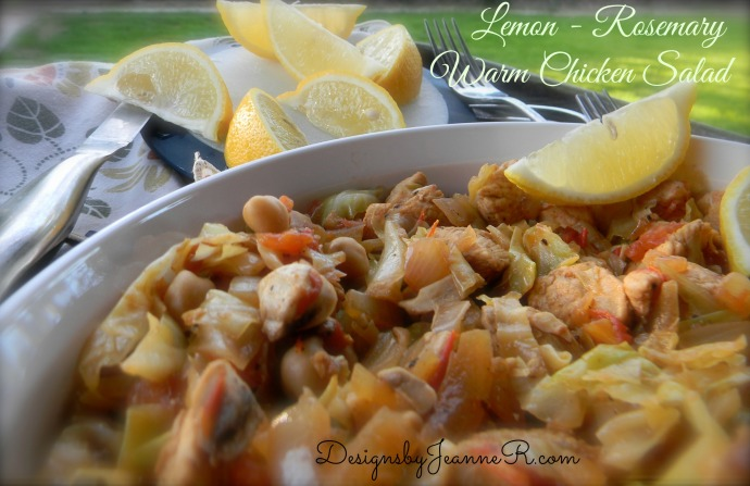 Lemon Rosemary Warm Chicken Salad