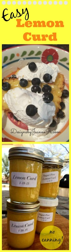 Easy Lemon Curd No Canning!