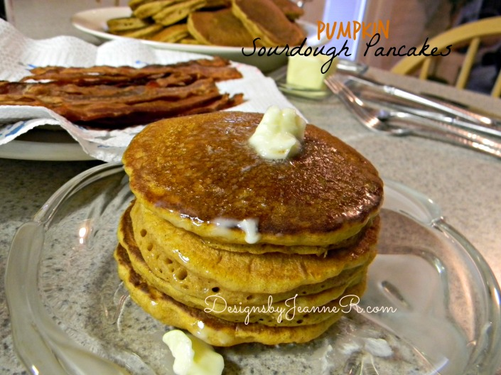 Pumpkin Sourdough Pancakes
