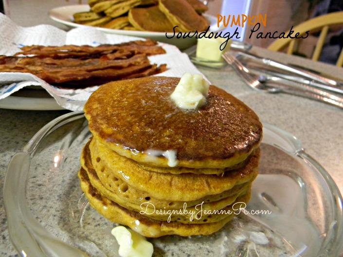 Pumpkin Sourdough Pancakes