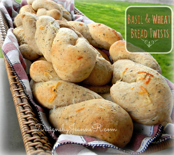 Basil & Wheat Bread Twists