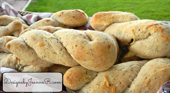 Basil Wheat Bread Twists